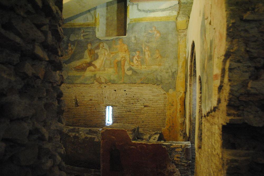 A well preserved fresco