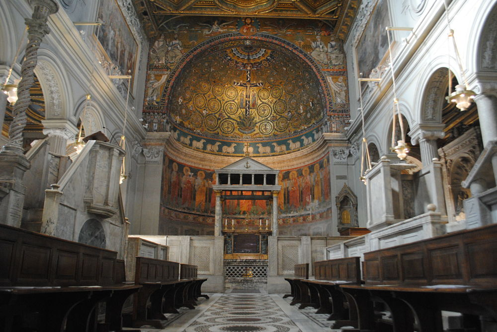Inside the church of San Clemente
