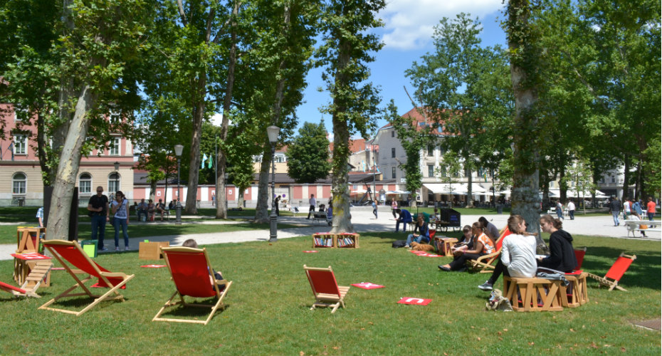 What could be more romantic than Ljubljana's Libraries Under The Treetops...