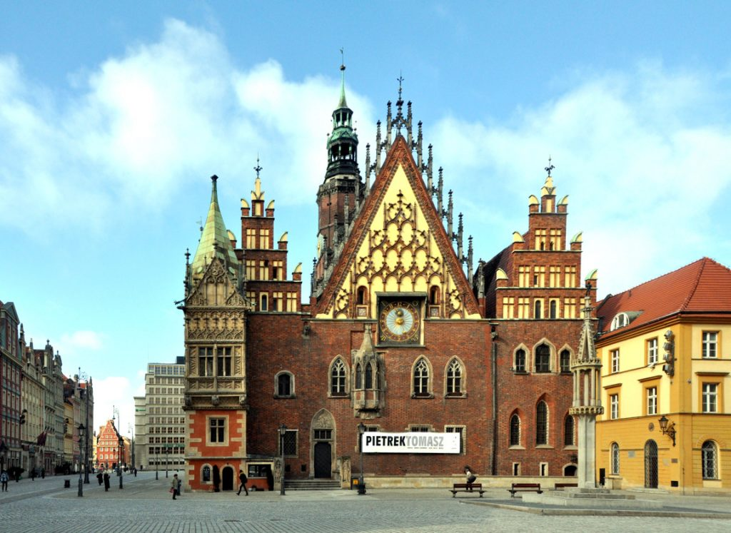 wroclaw old town hall view image