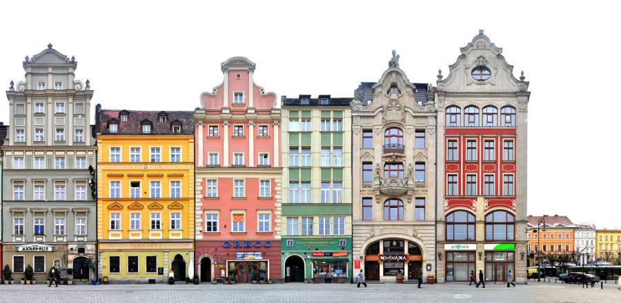 Breslau Südseite Ring Fassaden