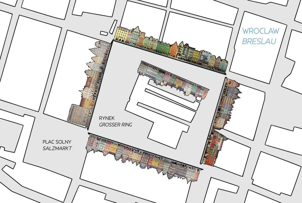 Breslau Grosser Ring Karte Map City
