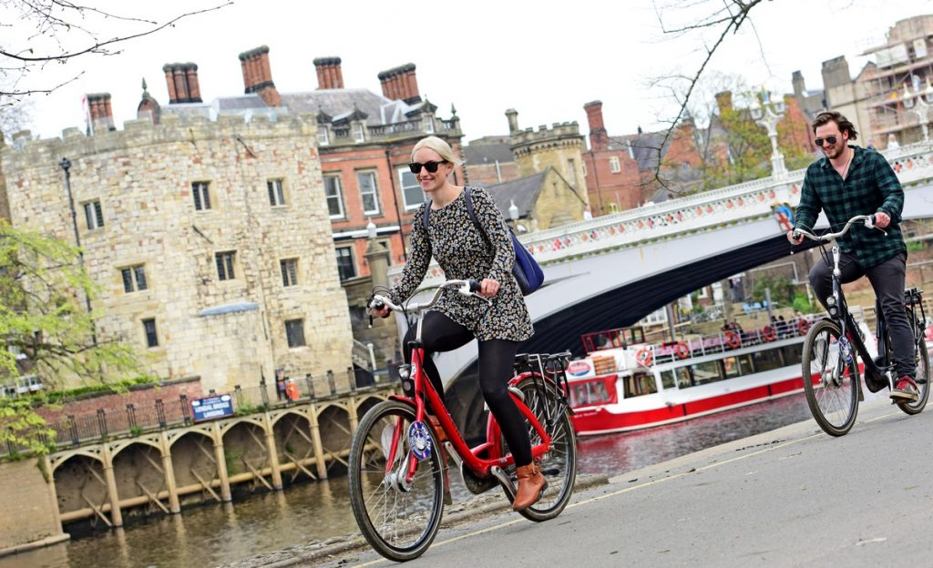 Cycling in York. Photo: Anthony Chappel-Ross / Visit York