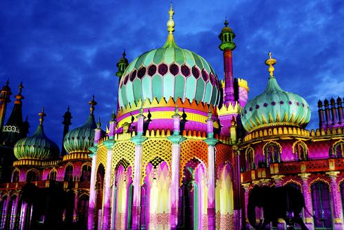The beautiful Brighton pavilion...