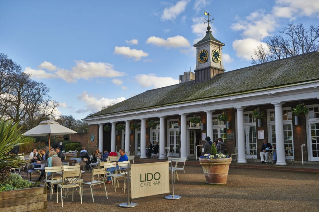 There's even a lovely cafe for a post swim coffee (Photo by The Royal Parks).