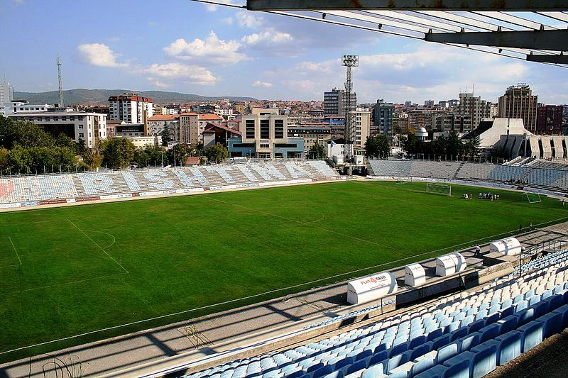 Prishtina's Stadium hosts football and concerts