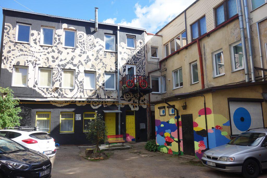 courtyard gallery Kaunas Lithuania