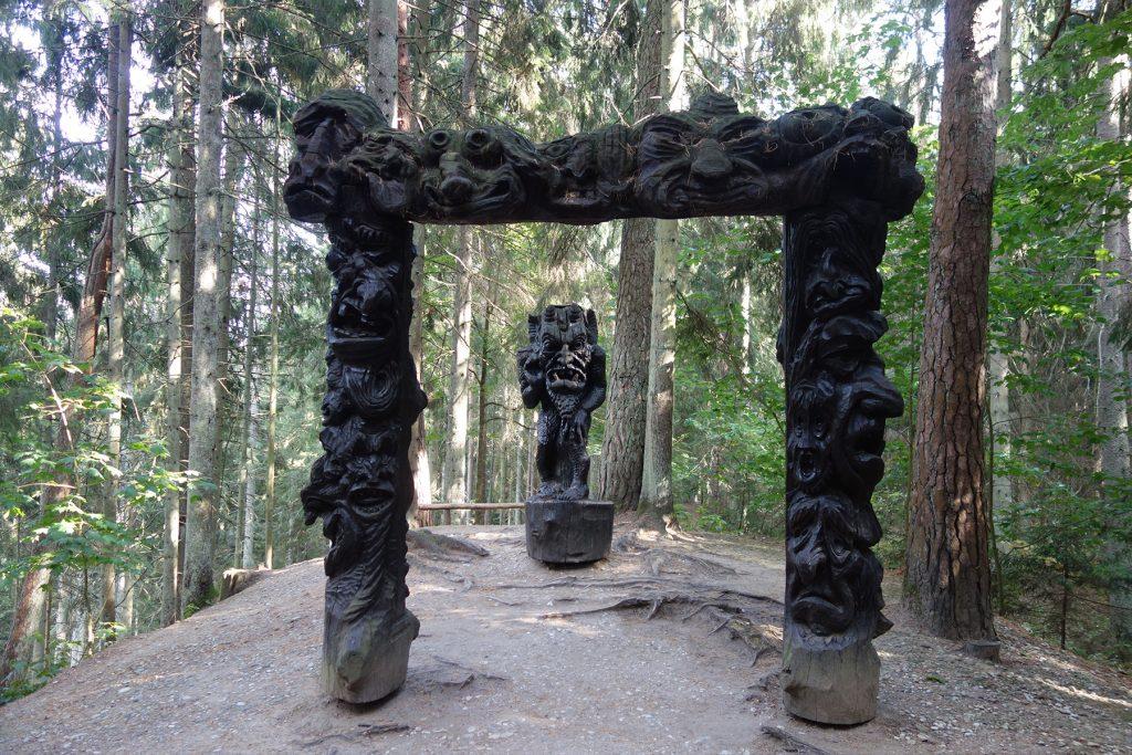 Devil statue Curonian Spit